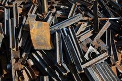 Metal scrap. A pile of metal scarp Stock Photos