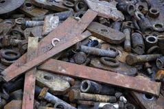 Metal scrap. A heap of metal scrap metal Stock Photos