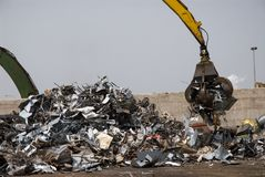 Metal scrap Royalty Free Stock Images