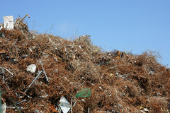 Metal scrap heap Royalty Free Stock Photo