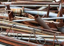 Metal Scrap Pile Royalty Free Stock Image