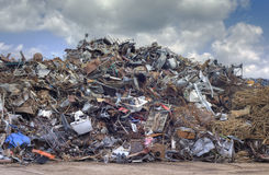Metal Scrap Recycling Stock Photography