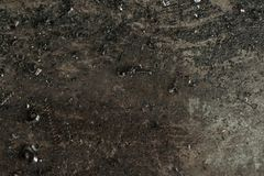 Metal scrap sawdust as an abstract background. Close up stock photo