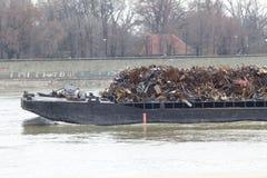 Metal scrap on the ship Stock Photos