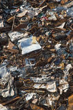 Metal scrap texture background closeup. Scrap Metal ready for recycling texture background Royalty Free Stock Photography