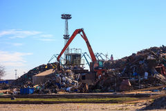 Metal scrap yard Stock Image