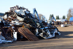 Metal scrap yard, broken junk Royalty Free Stock Photo