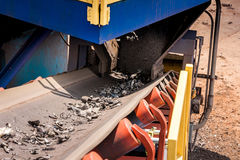 Metal Scrap Yard Machines Conveyor Belt Stock Photo