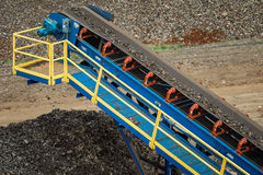 Metal Scrap Yard Machines Conveyor Belt Royalty Free Stock Images