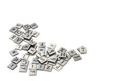 Metal scrapbooking letters Stock Photo