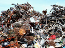 Metal scraps Stock Photo