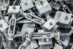 Metal screw for binding and joint Royalty Free Stock Image