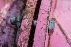 Metal closeup of an rusty pipeline Stock Photos