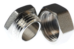 Metal screw nut Royalty Free Stock Images
