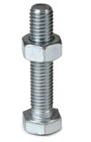 Metal screw and nut Stock Photo
