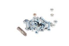 Metal screws Stock Image