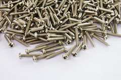 Metal screws. Stock Image
