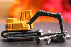 Metal screws royalty free stock images