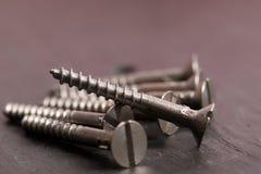 Metal screws royalty free stock image