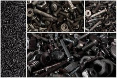 The metal screws. Stock Images