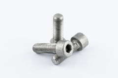 Metal screws. A lot of different metal screws for maintenance activity Royalty Free Stock Photography
