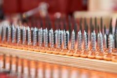 Metal screws macro Stock Images