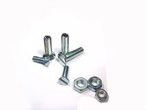 Metal Screws or Nuts and Bolts Royalty Free Stock Image