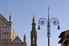 Metal scrolls on street lamp Florence Italy Stock Photography