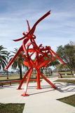 A Metal Sculpture in a Fort Myers Park Stock Images