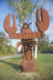 Metal sculpture of a lobster, Scenic Route 153, NH Royalty Free Stock Images