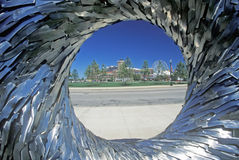 Metal Sculpture at Navy Pier, Chicago, Illinois Stock Photo