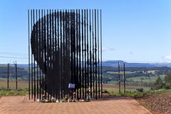 Metal Sculpture of Nelson Mandela at Howick Capture Site. Howick, KwaZulu-Natal, South Africa - 30 December 2013: Metal sculpture of Nelson Mandela at the site Royalty Free Stock Image