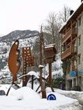 Metal sculpture in Ordino. Andorra.  Royalty Free Stock Photos