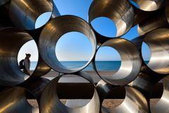 Metal sculpture at Seaton, Devon
