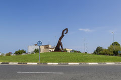 Metal sculpture, Spain Stock Photos