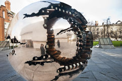 Metal sculpture in Trinity College. Stock Photography