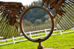 Metal Sculpture in Vineyard Royalty Free Stock Image