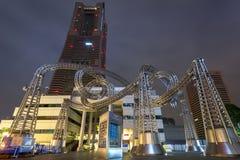 Metal Sculpture at Yokohama Landmark tower, Japan. YOKOHAMA, JAPAN - NOVEMBER 6, 2016 : Metal Sculpture at Yokohama Landmark tower. Landmark Tower, located in Royalty Free Stock Photos