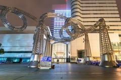 Metal Sculpture at Yokohama Landmark tower Royalty Free Stock Photography