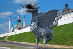 Metal sculpture of Zilant, symbol of Kazan, Russia Stock Photography