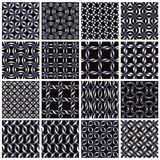 Metal seamless patterns set. Vector geometric backgrounds collection Stock Photo