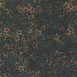 Metal seamless texture with flowers pattern Stock Photography