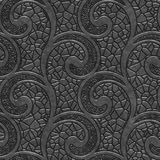 Metal seamless texture with swirls pattern. 3d illustration Royalty Free Stock Images