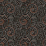 Metal seamless texture with swirls pattern Royalty Free Stock Images