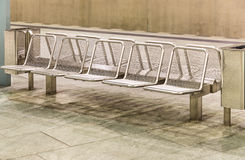 Metal Seats at Subway Station Royalty Free Stock Photography