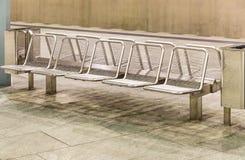 Metal Seats at Subway Station Royalty Free Stock Photography