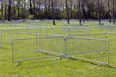 Metal security barriers Stock Photos