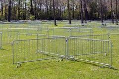 Metal security barriers Stock Photos