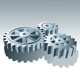 Metal Set of Operation Gears. Vector Illustration. Set of Metal Operation Gears on light background. Vector Illustration Stock Image