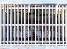 Metal sewer grate Stock Photos
